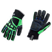 Ergodyne® ProFlex® 925F(x)WP Thermal Dorsal Impact-Reducing Gloves, Lime, XL