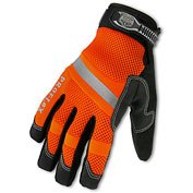 Ergodyne® ProFlex® 876WP Hi-Vis Thermal Waterproof Work Gloves, Orange, Small