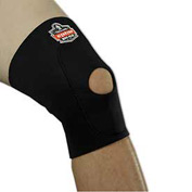 Ergodyne® 615 Knee Sleeve; Open Patella/Anterior Pad, Black, Large