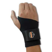 Ergodyne® ProFlex® 670 Ambidextrous Single Strap Wrist Support, Black, Medium