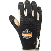 Ergodyne® ProFlex® 710LTR Heavy-Duty Leather-Reinforced Glove, Black, Medium, 17143