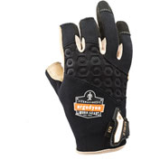 Ergodyne® ProFlex® 720LTR Heavy-Duty Leather-Reinforced Framing Glove, Black, XL, 17155