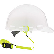 "Ergodyne® Squids® 3157 Coil Hard Hat Lanyard with Buckle, Lime, 18"" - Pkg Qty 6"