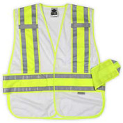 Ergodyne® GloWear® 8240HL Class 2 Two-Tone Expandable Vest, White, XL/2XL