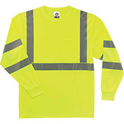 Ergodyne® GloWear® 8391 Class 3 Long Sleeve T-Shirt, Lime, XL