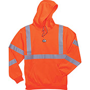 Ergodyne® GloWear® 8393 Class 3 Hooded Sweatshirt, Orange, 2XL