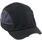 Ergodyne® Skullerz® 8960 Bump Cap W/LED Lighting Technology, Black, Short Brim, One Size