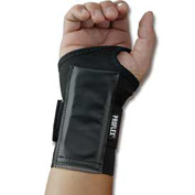 Ergodyne® ProFlex® 4000 Single Strap Wrist Support, Black, Small, Left