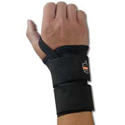 Ergodyne® ProFlex® 4010 Double Strap Wrist Support, Black, Large, Left