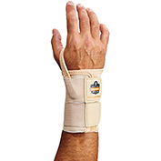 Ergodyne® ProFlex® 4000 Single Strap Wrist Support, Tan, Small, Right