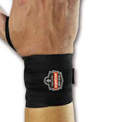 Ergodyne® 420 Wrist Wrap with Thumb Loop, Black, L/XL - Pkg Qty 6