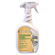Earth Friendly Products Stainless Steel Cleaner, Soy 32 oz. Trigger Bottle 6/Case - PL9330/6