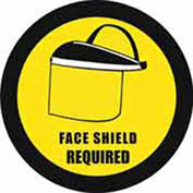 "Durastripe 20"" Round Sign - Face Shield Protection Required"