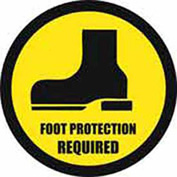 "Durastripe 20"" Round Sign - Foot Protection Required"