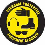 """Durastripe 24"""" Round Sign - Personal Protective Equipment Required"""