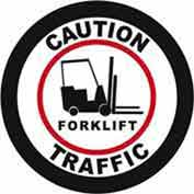 "Durastripe 32"" Round Sign - Caution Forklift Traffic"