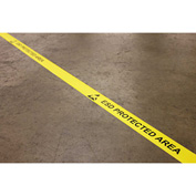 "DuraStripe® In-Line Printing, 3""W x 50'L, Yellow, ESD PROTECTED AREA"