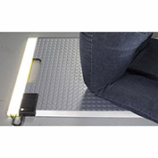 "Ergomat Portable LED Kneeling Mat, Silver, 18"" x 24"" - LED-INDPORTABLE-S"