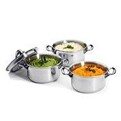 "De Buyer 3742.12 - Mini Stew Pan With Lid, 4-3/4"" Dia. x 2-3/4""H"
