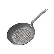 De Buyer 5613.26 Grill Fry Pan, Mineral B, Iron, 10-1/4