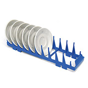 Lamber CC00049 - Dishwashing 10 Section Rack For Saucers, Plastic