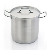 "Homichef HOM482424 - Stock Pot, Stainless Steel With Aluminum Core, 9-1/2"" Dia."