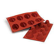 Silikomart SF093 - Baking Mold, Volcano, Silicone, Makes 8 Pieces