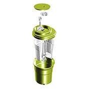 Eurodib SP012 - Small Salad Spinner 2-1/2 Gallons, Up To 3 Heads of Lettuce, Folding Handle, Green