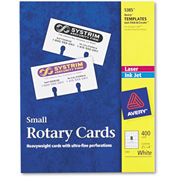 "Avery® Small Rotary Cards 5385, 2-1/8"" x 4"", 8 Cards/Sheet, 50 Cards/Box"