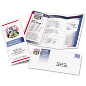 "Avery® Tri-Fold Brochures for Inkjet Printers 8324, 8-1/2"" x 11"", White, 100/Box"