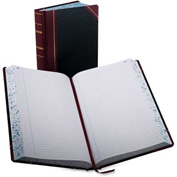"""Boorum & Pease® Account Book, Record Ruled, 8-5/8"""" x 14-1/8"""", Black Cover, 500 Pages/Pad"""