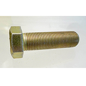 "Hex Tap Bolt Grade 8 - 3/8-16 x 6"" - FT - UNC - Steel - Zinc Yellow - Pkg of 10 - Earnest 694337"