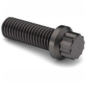 "3/4-10 x 2-1/2"" 12 Point Flange Screw - 170M PSI - Steel - Plain - Full Thread - UNC - Pkg of 5"