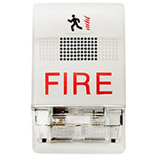 Edwards Signaling, EG1F-HDVM, Genesis Wall Temporal Horn-Strobes, Selectable, White, Marked Fire