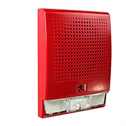 Edwards Signaling, EG4R-S2VM, Wall Speaker, Strobe, 25 V, Red