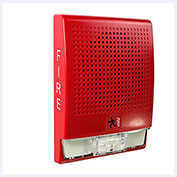Edwards Signaling, EG4RF-S2VM, Wall Speaker, Strobe, 25 V, Red, Marked Fire