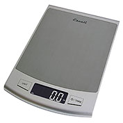 Escali 2210S Passo High Capacity Digital Scale, 22lb x 0.1oz/10kg x 1g, Stainless Steel