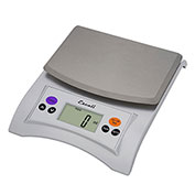 Escali A115S Aqua Digital Scale with Removable Top, 11lb x 0.1oz/5kg x 1g, Stainless Steel