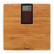 Solar Powered Digital Bathroom Scale 400lb x 0.2lb/180kg x 100g Bamboo