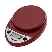 Escali P115WR Pico Pocket Digital Kitchen Scale, 11lb x 0.1oz/5000g x 1g, Warm Red