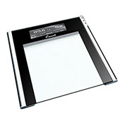 Escali USTT180 Digital Bathroom Scale w/ Extra Large Display, 400lb x 0.2lb/180kg x 0.1kg, Clear