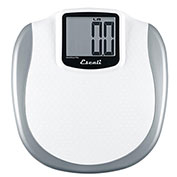 Escali XL200 Digital Bathroom Scale with Extra Large Display, 440lb x 0.2lb/200kg x 0.1kg, White