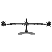 Ergotech Triple LCD Monitor Horizontal Desk Stand - Black
