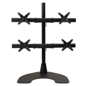 Ergotech Quad Monitor Desk Stand - 2 Over 2 - Black