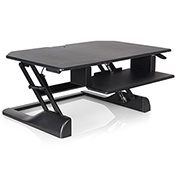"Ergotech Sit and Stand Desktop 35"" Workstation - Black"