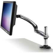 Ergotech Freedom Arm™ Single Monitor Arm with Clamp - Silver