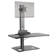 Ergotech Freedom Stand™ Sit-Stand Desktop Workstation - Single Display - Black