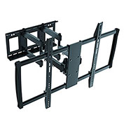 """Ergotech XL HD Full Motion Wall Mount for 60""""-100"""" Curved and Flat Panel TVs - Black"""