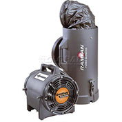 "Ramfan 8"" UB20xx Intrinsically Safe Blower With Canister and 15' Duct  1/3 HP 980 CFM"