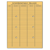Interoffice Envelopes, Kraft, String & Button, 10 x 13, 100/Box
